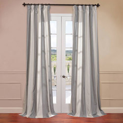 Half Price Drapes - Del Mar Grey 50 x 96-Inch Blend Stripe Curtain - - Rich in texture these Veranda Faux Linen Blend Curtains are gracefully crafted. Woven from the world's finest Linen and blended with sturdy polyester for the perfect weave and fall. Each panel is finished with our Exclusive 3� Pole Pocket with Back Tab (Hidden Tab) & Hook Belt header for a practical and modern look  - Single Panel  - Weighted  - Pole Pocket  - Cleaning/Care: Dry Clean Half Price Drapes - FHLCH-YL7178117-96