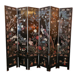 Antique Double-sided Five-panel Chinoiserie Lacquered Screen - The HighBoy, Atelier 1505