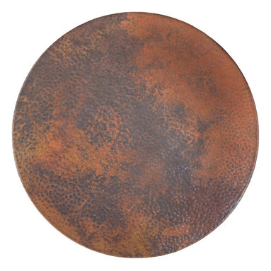 "Native Trails - 30"" Copper Lazy Susan - As versatile as it is beautiful, you can use it as a centerpiece or a serving piece. Add a warm, rustic ambience to your dining table, coffee table or bar. You and your guests will enjoy sharing your culinary creations on this smoothly swiveling, hand-hammered copper Lazy Susan."