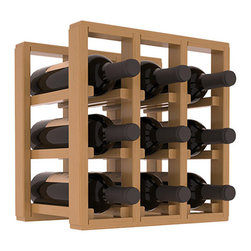 Wine Racks America® - 9 Bottle Counter Top/Pantry Wine Rack in Pine, Oak Stain + Satin Finish - These counter top wine racks are ideal for any pantry or kitchen setting.  These wine racks are also great for maximizing odd-sized/unused storage space.  They are available in furniture grade Ponderosa Pine, or Premium Redwood along with optional 6 stains and satin finish.  With 1-10 columns available, these racks will accommodate most any space!!