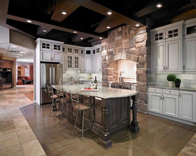 Traditional Kitchen Cabinets by Kitchen Craft Edmonton