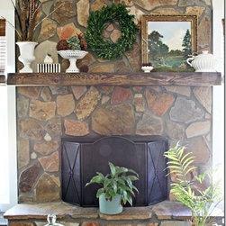 Authentic Reclaimed Barn Beam Wood Mantel - Mantle Shelf