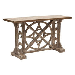Rafferty Console - This is a great statement piece. It can go almost anywhere from a vacation lodge to a modern loft apartment.