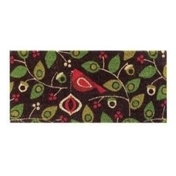 Tag - Birds & Berries Estate Coir Mat, Brown by Tag - Our birds & berries estate coir mat welcome the festive season in home. Door mat features coir is a natural, renewable fiber extracted from coconut husk and is easy to care for. Best maintained under protected area.