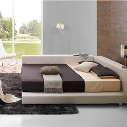 Deion Contemporary Bed Frame - This Deion Contemporary Bed Frame features a soft fabric outer frame to complement its durable kiln-dried hardwood inner frame.