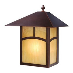 Vaxcel Lighting - Vaxcel Lighting OW37213 Mission 1 Light Outdoor Wall Sconce - Features: