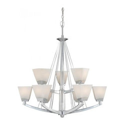 Vaxcel - Kendall 9L Chandelier - Vaxcel products are highly detailed and meticulously finished by some of the best craftsmen in the business.