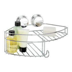 Better Living Twist'N'Lock Plus Combo Shower Basket - 13814 - The ideal combination for your bath and shower! The Combo Basket has a roomy, deep basket for storing shower bottles, a handy soap dish and hooks to hold shower puffs or face cloths! It will conveniently fit in a corner or on a flat wall - perfect for all shower sizes! Use the suction for installing onto smooth surfaces like glass or mirror or use the screw option for a more permanent installation onto any wall surface.