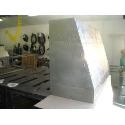 Products - Custom Metal Vent Hood for Sale.  Stainless Steel with Hand Rubbed Finish and Hand Made Rivets.