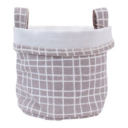 MAIKA - Recycled Canvas Bucket, Woven Grey, Large - AS SEEN ON THE TODAY SHOW