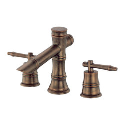 "Danze - Danze D303045RBD Distressed Bronze Mini-Wide Faucet - Danze D303045RBD Distressed Bronze Mini-Widespread Lavatory Faucet is part of the South Sea Bath collection.  D303045RBD 3 hole mount Mini-Widespread has a 4 1/4"" long and 3"" high spout, with metal touch down drain.  D303045RBD Two lever handles meets all requirements of ADA.  California and Vermont compliant."