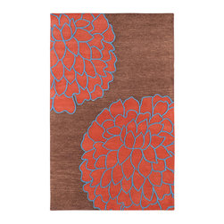 """Surya - Surya Artist Studio ART-206 (Brown, Coral Red) 3'3"""" x 5'3"""" Rug - True to its name, Artist Studio is an assortment of the best from the leading designers around the world. A palette of deep, rich colors paired wilh hand-tufted details of high/low pile make this collection exceptionally textured and multi-dimensional. All rugs in this collection are hand-tufted of 100% New Zealand."""