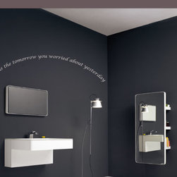 Today is Vinyl Wall Decal bathroomquotes10, Blue, 42 in. - Vinyl Wall Quotes are an awesome way to bring a room to life!
