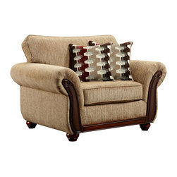 Chelsea Home Furniture - Chelsea Home Courtney Chair in Radar Havana - Courtney chair in Radar Havana belongs to the Chelsea Home Furniture collection