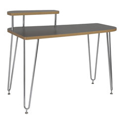 ItalModern - 48 in. Desk with Left shelf - Includes table top, legs and hardware. Polypropylene board. 0.03 thick high pressure laminate top. 0.03 thick PVC edge banding. Chromed steel legs. 0.05 in. tubing thickness. Adjustable feet. Durable and easy-to-clean. Unique design. Warranty: One year. Gray color. Shelf height: 7 in.. 48 in. W x 27.5 in. D x 37 in. H. Assembly Instructions