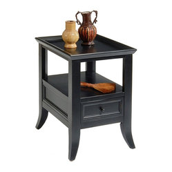 Liberty Furniture - Liberty Furniture 915 Occasional 24x18 Rectangular End Table in Black, Dark Wood - 915 Occasional 24x18 Rectangular End Table in Black, Dark Wood is a part of 915 Occasional Collection by Liberty Furniture What's included: End Table (1).