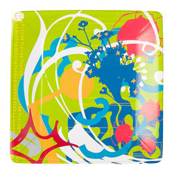 Working Class Studio - Brad Collection Paper Plates - Dinner - Make your next bash a blast with paper plates that are beyond compare. Sturdy squares that explode with color and design turn simple fare into style statements. A good time will be had by all.