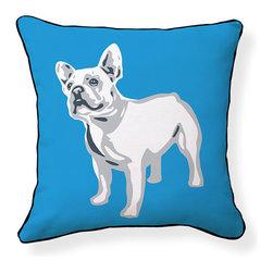 "Naked Decor - French Bulldog Pillow - Size: 18""x18"""