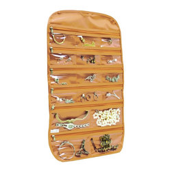Florida Brands - Florida Brands 31-Pocket Hanging Jewelry Organizer in Beige/Gold - Takes up little closet space as it hangs from closet rod