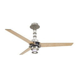 Minka Aire F529-L-BS/CH San Francisco 56 in. Indoor Ceiling Fan - Brushed Steel