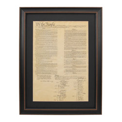 Patriot Gear Company - Poster Size United States Constitution; Poster Size with Black Matte - The United States Constitution is one of the two greatest documents ever penned by man, the other being the Declaration of Independence.   Written principally by James Madison, the Constitution is the oldest written constitution still used by any nation. It serves as the framework for the organization of the United States government and for the relationship of the federal government with the states, citizens, and all people within the United States.