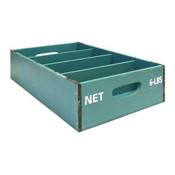 Blue Slotted Crate