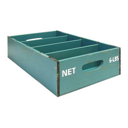 Blue Slotted Crate - I love the concept of the divided storage box. I will use this to keep my bills organized.