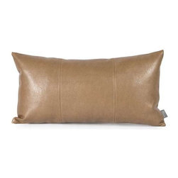 Howard Elliott Avanti Bronze Kidney Pillow - Change up color themes or add pop to a simple sofa or bedding display by piling up the pillows in a multitude of colors, textures and patterns. This Avanti Pillow features a subtle bronze color, textured grain and a paneled design to give the look of true leather.
