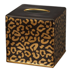 "L'Objet - L'Objet Leopard Tissue Box Cover - Meticulously handcrafted from select metals and Limoges porcelain, L'Objet Desk Accessories comprise a whimsical collection that is complex in color, rich in texture, and global in design. Brass, 24K Gold, EnamelMeasures: 6"" x 6"" x 6"" / 15cm x 15cm x 15cm 'Genuine Limoges Porcelain Luxuriously Gift Boxed. L'Objet is best known for using ancient design techniques to create timeless, yet decidedly modern serveware, dishes, home decor and gifts."