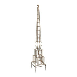 "IMAX - William Garden Trellis - The William Garden Trellis will give your climbing plants a sturdy iron form while complimenting your decor with its classic design. Item Dimensions: (67""h x 12""w x 12"")"