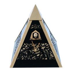 ROMBACH UND HASS - Rombach und Haas Pyramid Quartz Cuckoo Clock - Fine woodcut filigree design