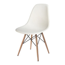 MID-CENTURY WOODEN LEGS CHAIR - Lend a touch of retro simplicity to your dining room or parlor with this stylish side chair or Dining Chair, showcasing an iconic design from the 1950s and 1960s