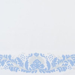 Serena & Lily - Extra Odette Standard Pillowcases Cornflower (Set of 2) - A 1940s-inspired floral looks as fresh as ever in shades of cornflower and sky blue. The details (expertly printed along the edge) are so artful, you'd think the design was painted by hand. Bright white ground.