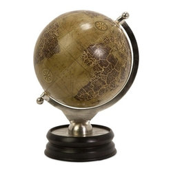 IMAX CORPORATION - Colombo Large Globe With Nickel And Wood Base - Decorative globe with wood base. Find home furnishings, decor, and accessories from Posh Urban Furnishings. Beautiful, stylish furniture and decor that will brighten your home instantly. Shop modern, traditional, vintage, and world designs.