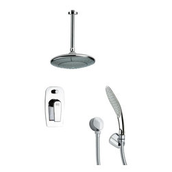Remer - Chrome Shower Faucet Set with Handheld Shower - Single function shower faucet.