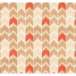 Cingo in Praline - How great is Cingo in Praline, a chevron fabric designed by Nate Berkus!
