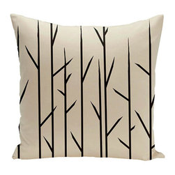 e by design - Branches Beige 20-Inch Cotton Decorative Pillow - - Decorate and personalize your home with coastal cotton pillows that embody color and style from e by design  - Fill Material: Synthetic down  - Closure: Concealed Zipper  - Care Instructions: Spot clean recommended  - Made in USA e by design - CPO-NR7-Oatmeal-20