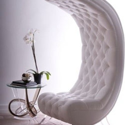 Moon Chair by H Studio - The Moon Chair is a mod and curvy conversation starter that will become the focus of any room.
