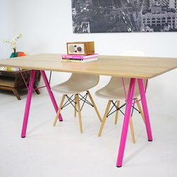 The Lola: White Oak With Powdercoated Steel Legs - Robert WIlliam