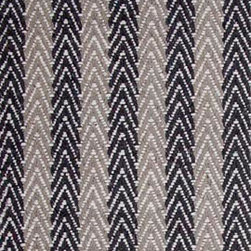 Hook & Loom Rug Company - Lanesborough Lt Grey/Dk Grey Rug, Lt Grey/ Dk Grey, Swatch - Very eco-friendly rug, hand-woven with yarns spun from 100% recycled fiber.  Color comes from the original textiles, so no dyes are used in the making of this rug.  Made in India.