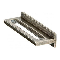 Rocky Mountain Hardware Tab Pull (CK20125) - Designed by Ted Boerner, respected San Francisco-based furniture designer, this collection offers five new cabinet hardware families, from chunky handles and asymmetrical knobs and pulls.