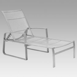 Woodard Wyatt Mesh Adjustable Outdoor Chaise Lounge - About the Woodard Wyatt Mesh Adjustable Chaise LoungeThis adjustable chaise lounge features modern design and an open-weave mesh seat and back. The bed is contoured and the back adjusts to five different angles for perfect comfort. Refreshing breezes blow through the open mesh to enhance relaxation. Made of durable aluminum, this chaise comes in many powder-coated finishes. Important NoticeThis item is custom-made to order, which means production begins immediately upon receipt of each order. Because of this, cancellations must be made via telephone to 1-800-351-5699 within 24 hours of order placement. Emails are not currently acceptable forms of cancellation. Thank you for your consideration in this matter.Hand-crafted to Withstand the Test of TimeFor over 140 years, Woodard craftsmen have designed and manufactured products loyal to the timeless art of quality furniture construction. Using the age-old art of hand-forming and the latest in high-tech manufacturing, Woodard remains committed to creating products that will provide years of enjoyment.Superior Materials for Lasting DurabilityIn the Aluminum Collections, Woodard's trademark for excellence begins with a core of seamless, virgin aluminum: the heaviest, purest, and strongest available. The wall thickness of Woodard frames surpasses the industry's most rigid standards. Cast aluminum furniture is constructed using only the highest grade aluminum ingots, which are the purest and most resilient aluminum alloys available. These alloys strengthen the furniture and simultaneously render it malleable. The end result is a fusion of durability and beauty that places Woodard Aluminum furniture in a league of its own.Fabric, Finish, and Strap Features All fabric, finish, and straps are manufactured and applied with the legendary Woodard standard of excellence. Each collection offers a variety of frame finishes that seal in quality while providing color choices to sui