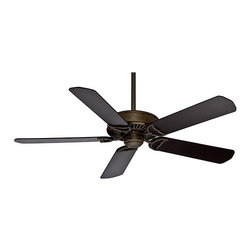 Casablanca Fans - Panama� Control Aged Bronze Energy Star Outdoor Ceiling Fan Body - - Everything you could possibly want in a fan - timeless classic design, superb air movement, energy efficient and available in a variety of motor finish, blade and lighting options. And, this model is damp rated for use in covered porches and sunrooms. The Panama Control could be the only fan you ever need  - High-end motor is ENERGY STAR� rated and at the top of its class in air movement  - Direct Drive? motor provides unparalleled power, silent performance, and reliability over decades of daily use  - ETL Damp-rated for use in covered porches, patios and sunrooms  - Fan body only, blades are sold separately  - Motor Type: Direct Drive?  - Motor Size: 188 x 20  - Included Control: 4-Speed Universal Wall Mount Control  - Optional control sold separately: 99020 Universal 4-Speed Handheld Remote Transmitter  - Number of Blades: Five  - Blade Span-Long: 58  - Blade Span-Short: 52  - Blade Pitch: 13  - Blade Finish: Several blade options that are sold separately  - Fan Body Material: Metal  - Blade Material: Furniture Grade Wood  - Blade Set: New blade hole pattern - Blades sold Separately  - Bulb Not Included  - Limiter 180-Watt: Included in receiver  - Ceiling to Bottom of Fan: 12.36  - Ceiling to bottom of Fan Blade: 11.19  - Downrod Diameter: 2.75  - Fan Body Height: 12  - Canopy Diameter: 6.49  - Included Downrod Length: 3-Inch and 2-Inch  - Sloped Ceiling Adaptor: Yes  - High Speed (RPM): 168 Casablanca Fans - 55029