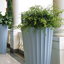 Eufronio Outdoor Pots by Serralunga - Modern Outdoor Flower Pots by Serralunga New Pots Available in many different plastic colors Designed by Paolo Rizzatto, Made in Italy.