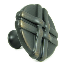 Stone Mill - Stone Mill Oil-rubbed Bronze Weave Cabinet Knobs (Pack of 5) - Finish off any cabinet or drawer with this decorative pullA woven design decorates this cabinet hardwareDie cast of solid zinc alloy,this pull has a solid construction