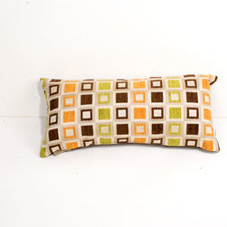 Canaan Company - 11x21 Multi-Colored Lumbar Accent Pillow - - Chenille  - 100% Poly  - Spot Clean Or Dry Clean Canaan Company - P-820-C