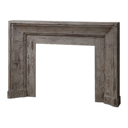 Uttermost - Uttermost Khuri Wooden Mantel - Khuri Wooden Mantel by Uttermost Bringing The Past Forward With This Art Deco Inspired Mantel And Surround, Made From Solid Fir Wood, Stonewashed With Natural Gray Undertones For Antique Appeal.