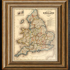 England Map United Kingdom Map Antique Map of UK by SigningStar