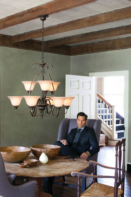 Traditional Dining Room by Littman Bros Lighting