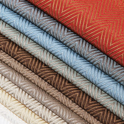 """Arrival - Tiny, slender, yet dominant yarns in both the warp and fill are artfully arranged in a classic herringbone pattern. ARRIVAL is engineered for authority and control, perfectly suited for the moment, especially if the moment is now.  By telegraphing its arrival, it says, """"I belong here, I have work to do."""""""